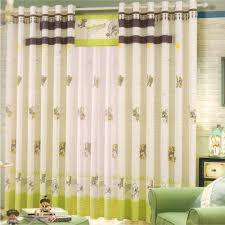 Curtains Nursery Boy by Brown Cartoon Patterns Beaded Baby Boy Nursery Curtains