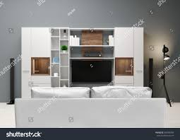 contemporary style home audio system tv stock illustration