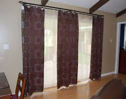 interior brown diagonal patterned silk loose curtain combined