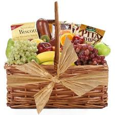 food delivery gifts fruit and gourmet gift basket