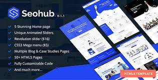 seohub seo marketing social media multipurpose html5 template