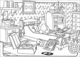 coloriage de chambre de fille dessin de chambre chaios com