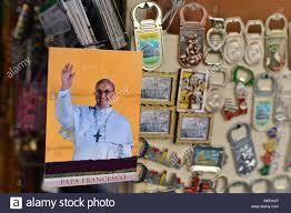 pope francis souvenirs rome italy tourist souvenirs rome pope stock photos rome