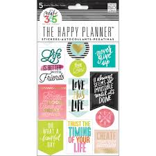 create 365 the happy planner life quotes stickers