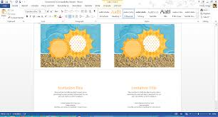 Family Reunion Invitation Cards Free Summer Themed Templates From Microsoft
