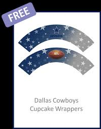 dallas cowboys cupcake wrappers free pdf download printables