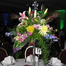 Tower Vase Centerpieces Flowers For The Reception