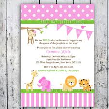 Invitation Card Example Safari Baby Shower Invitations Theruntime Com