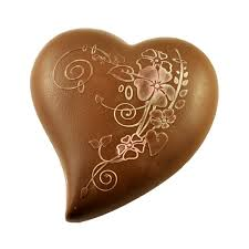 heart chocolate fancy chocolate heart large milk couverture poppys chocolate