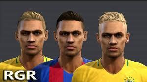 pes 2013 hairstyle neymar jr new hair style pes 2013 three version