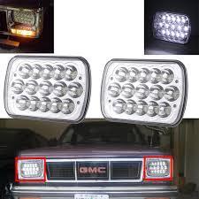 1990 toyota pickup tail light lens for toyota pickup truck square headl pair h6054 7x6 led headlight