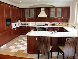 interesting kitchen designs with wooden floor ideas and gray