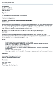 resume for housekeeper sample how to make resume for housekeeping