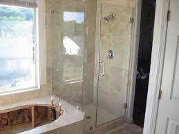 Travertine Bathtub Travertine Shower Tile Install Completed Frameless Glass