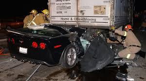 corvette car crash this corvette crash should severed this driver s
