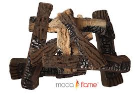 Propane Fireplace Logs by Amazon Com Moda Flame 10 Piece Large Ceramic Wood Set Of