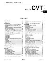 2007 nissan versa transmission transaxle cvt pdf manual 212