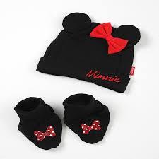 Minnie Mouse Bathroom Accessories by Disney Cuddly Cap U0026 Bootie Set Minnie Mouse Disney Baby