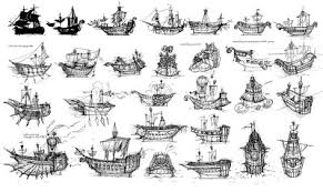 lim hur ship sketches