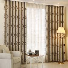 Thick Luxury Wavy Striped Decorative Curtains for Living Room Bedroom