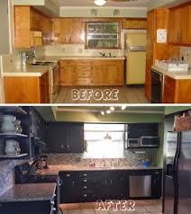 painted black kitchen cabinets before and after best choice of painting kitchen cabinets black homey design 9 10 diy