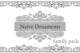 naive ornaments family pack symbol fonts creative market