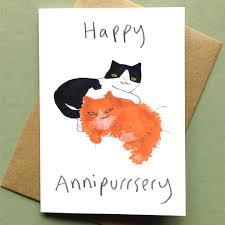 happy anniversary cards happy anniversary card cat card by jo clark design