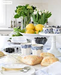 Blue And White Kitchen A Casual And Rustic Blue And White Tablescape