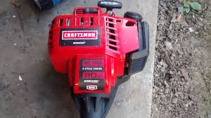 craftsman 30cc 4 cycle weedwacker fix youtube