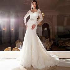 brautkleid mermaid 2016 vintage lace sleeve wedding dress mermaid