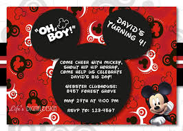 Mickey Mouse Invitation Cards Printable Mickey Mouse 1st Birthday Invitations For Girls And Boys Party Xyz