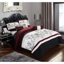 Jacquard Bed Set 7 Bedding Comforter Set Black King Size Jacquard Bed Set
