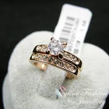 swarovski wedding rings images 18k rose gold plated made with swarovski element engagement jpg