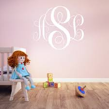monogram wall decals for nursery initial wall decals for nursery color the walls of your house