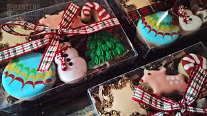 Decorative Christmas Desserts Le Shoppe Winter Holiday Baking Christmas Cookie Gift Box