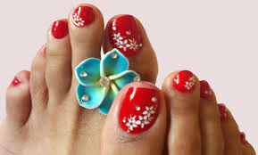 nail art for toes red nails youtube