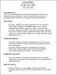 how to write a resume with no work experience example example of