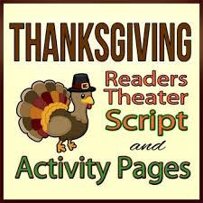 thanksgiving readers theater script reading activity