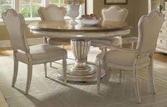 5 pc round pedestal dining table chic calm nuance accessories furniture glamorous round clear glass