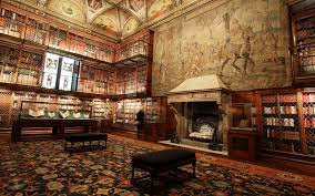 books library interiors painting fireplace carpets manhattan