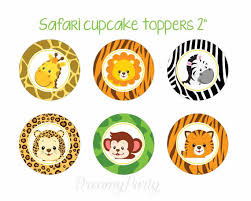 safari cake toppers safari cupcake toppers safari baby shower safari birthday
