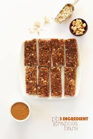 bar snack cuisine healthy peanut butter granola bars minimalist baker recipes