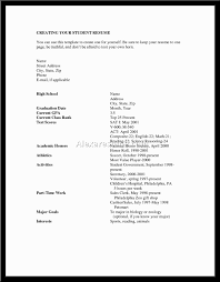 High Resume Template No Work Experience Doc12751650 High Resume Template No Work Experience Resume Resume