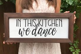 decor signs in this kitchen we farmhouse sign farmhouse decor