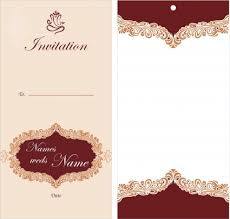 wedding cards templates free wedding card template free