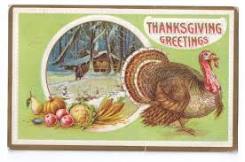 vintage thanksgiving postcards vintage thanksgiving turkey log cabin snow winter scene embossed