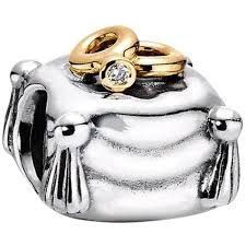 Pandora Wedding Rings by Pre Owned Pandora Union I Do 925 14kt Gold And Diamond Ring Pillow