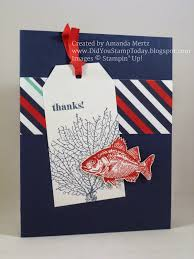 nautical thank you cards did you st today stin up by the tide nautical thank you