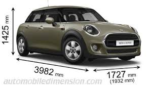 auto 5 porte dimensions of mini cars showing length width and height