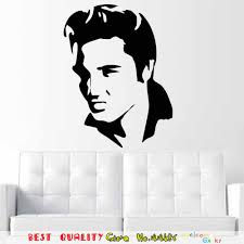famous music world star elvis presley wall decals murals art home famous music world star elvis presley wall decals murals art home decor vinyl wall stickers living room boys bedroom sticker in wall stickers from home